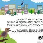 C'est aujourd'hui la journée mondiale du travail social… Affichons nos convictions avec le poster ci-joint