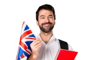 homme drapeau anglais